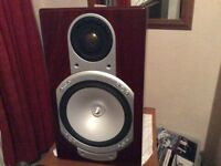 2 . Monitor audio rs1 speakers . No offers .