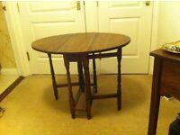 Solid Oak Gate Leg Table