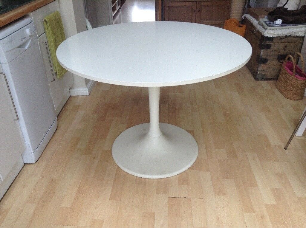 ikea lovely round kitchen dining table  in colliers wood