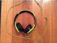 Black and Green JVC Headphones, Quality Sound