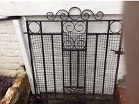 Metal Gate plus hinges.