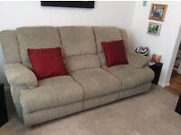 3 Seater and 2 Seater manual recliner, and sofa bed