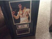 Elvis Presley memorabilia last ever concert ticket