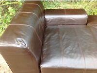 Sofa modern faux leather chaise sofa