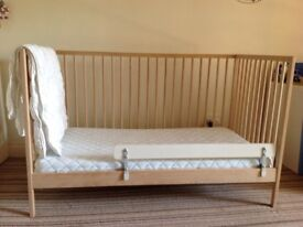 baby cot from Ikea, wooden