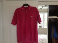 Ping Pink Golf Shirt with White Lines