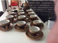 Denby(Cotswold)31 pieces,Coffee set plus coffee pot plus sugar bowls & milk jugs excellent condition