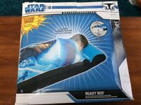 Star wars clone wars ready bed air bed sleeping bag with built it air bed matress
