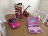 V tech laptop plus toys