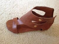Tan coloured women's sandals brand new Size 7