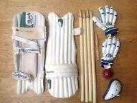 KOOKABURRA cricket pads 2ft long G.C. TWIN 823