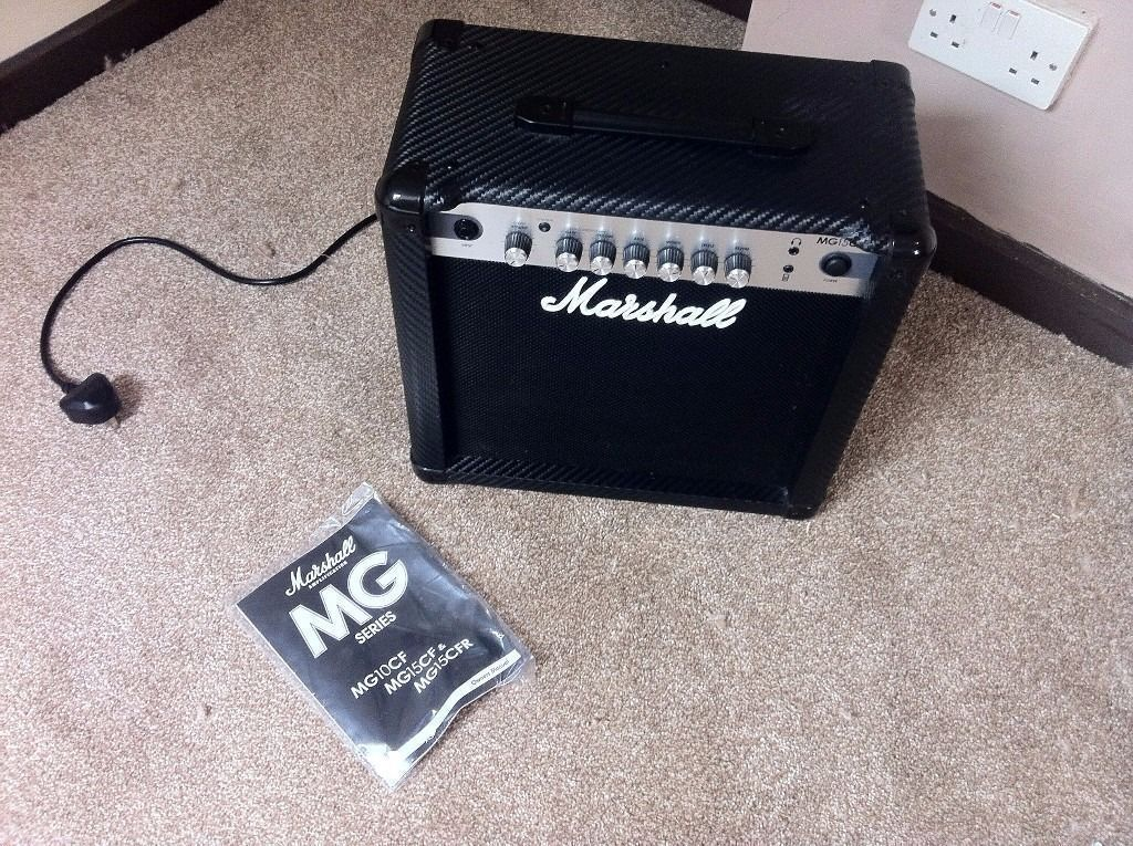 Marshall MG15CFR Guitar Amplifier (Newin Plymouth, DevonGumtree - Marshall solid state amplifier with built in reverb and ipod in/headphone out, perfect practice amp, 15W, bought as part of a bundle but I already have an amp