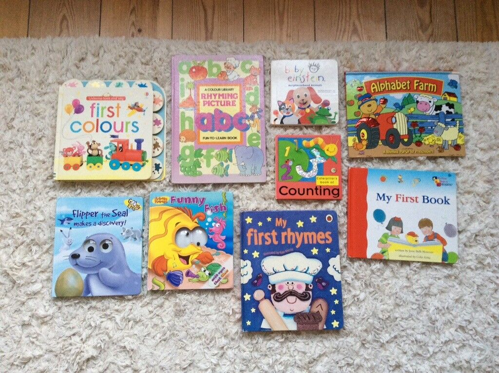 9x toddler books, great condition