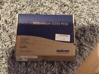 Matrox Millennium G550 PCIe graphics card