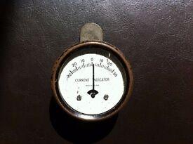 Vintage Clip on D.C. Amperes Current indicator