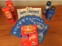 BRAND NEW Large Selection of Deep Heat and Deep Freeze Products (inc Rubs and Pads)
