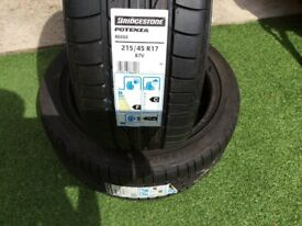 Bridgestone 215/45/17 Bargain £45.00
