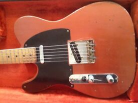 left handed Clive Brown '54 Esquire replica Telecaster guitar.