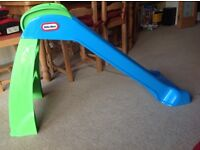 Little Tikes first slide, blue and green