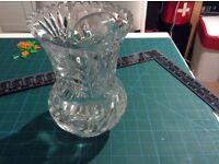 Beautiful vintage royal thistle crystal vase