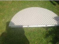 Large circular folding camping table