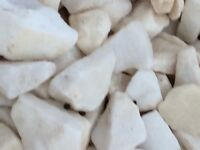 20 mm white Skye marble garden and driveway chips/ stones/gravel