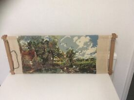 Tapestry/cross stitch wooden frame and wools