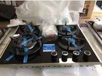 4 burner ceramic gas hob new/graded 12 months guarantee RRP £329