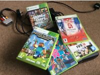 Microsoft Xbox 360 w/ 5x Games and 2x Rechargeable Controllers