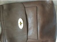 Genuine Mulberry small Anthony Messenger Bag in Chocolate Brown