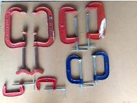G CLAMPS X 8