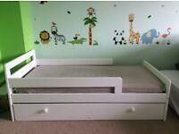 White Ellis toddler bed With drawer (Argos)