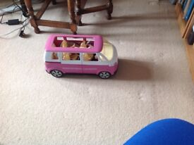 Barbie bus,Barbie and accessories