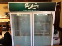 Double door Carlsberg drinks cooler, good working order