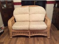 2-seater solid cane settee