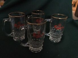 Carlsberg half pint beer tankards