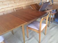 G Plan Teak Extending Dining Table and 4 Chairs. 1960s.