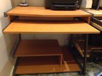 computer desk for sale with slide out shelf.