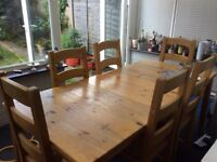 Vintage Ikea Pine Extending Dining Table