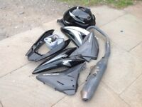 Honda CBF125 fairing , tank and exhaust