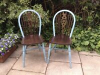 Upcycled and stylish kitchen chairs