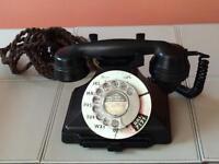 GPO Black Bakelite Telephone with drawer for restoration