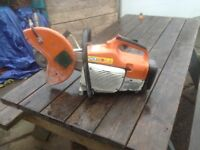 Stihl Saw TS 400 Cut Off Concrete
