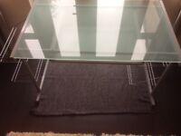 John Lewis glass computer table