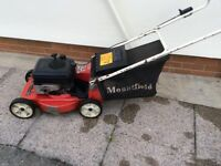 Petrol mount field mower