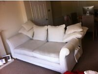 3 seater + 2 seater settees +matching footstool