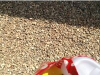 Chippings (golden Flint) half a tonne (ordered too many) fab to tidy up any garden or driveway