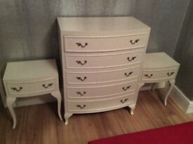 Drawers and matching bedsides