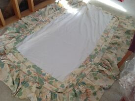Bed cover and matching valance for 4 foot bed. Not new but in excellent condition
