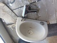 Very small sink with mixer taps Armitage shanks